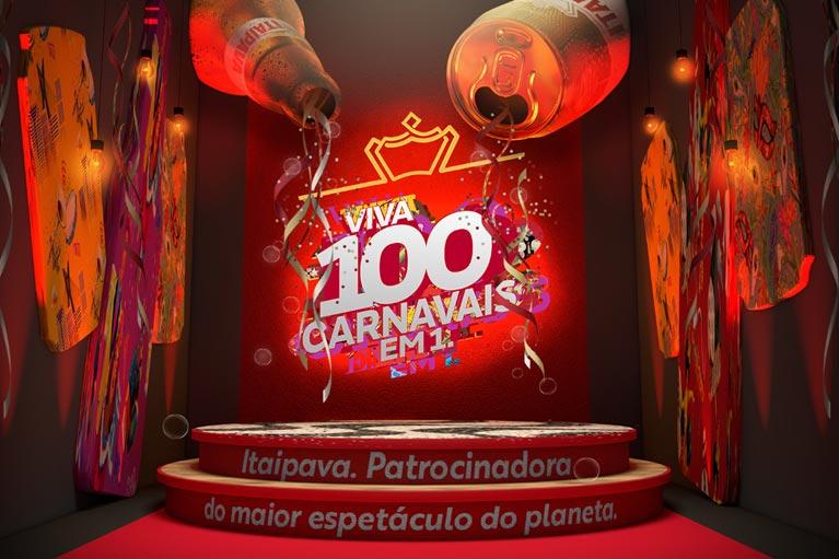"Itaipava apresenta ""100 carnavais em 1"" na Sapucaí"